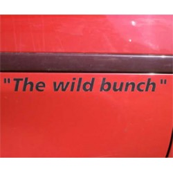 The Wild Bunch deursticker